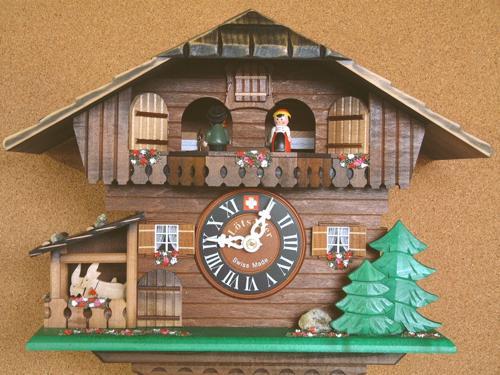 カッコ−時計ヤギ小屋