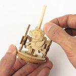 画像5: 【DIY木製パズルキットオルゴール】 メリーゴランド(ナチュラル) (5)