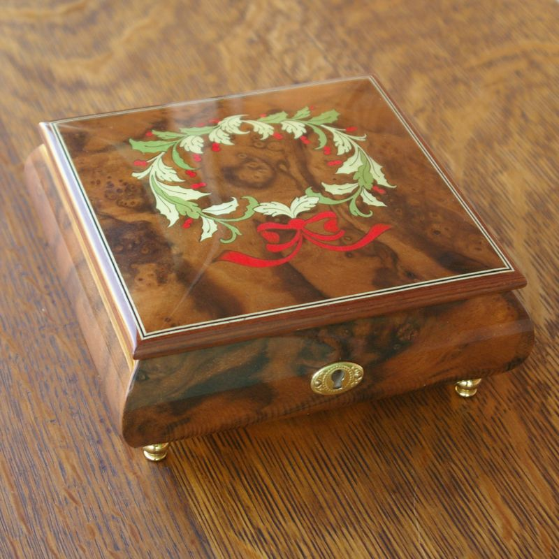 画像1: REUGE クリスマスリース象嵌 宝石箱 (1)