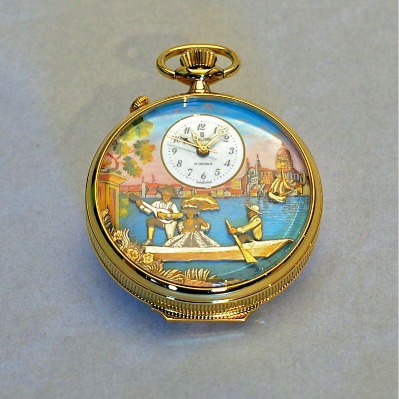 画像1: REUGE カラクリ懐中時計 (1)