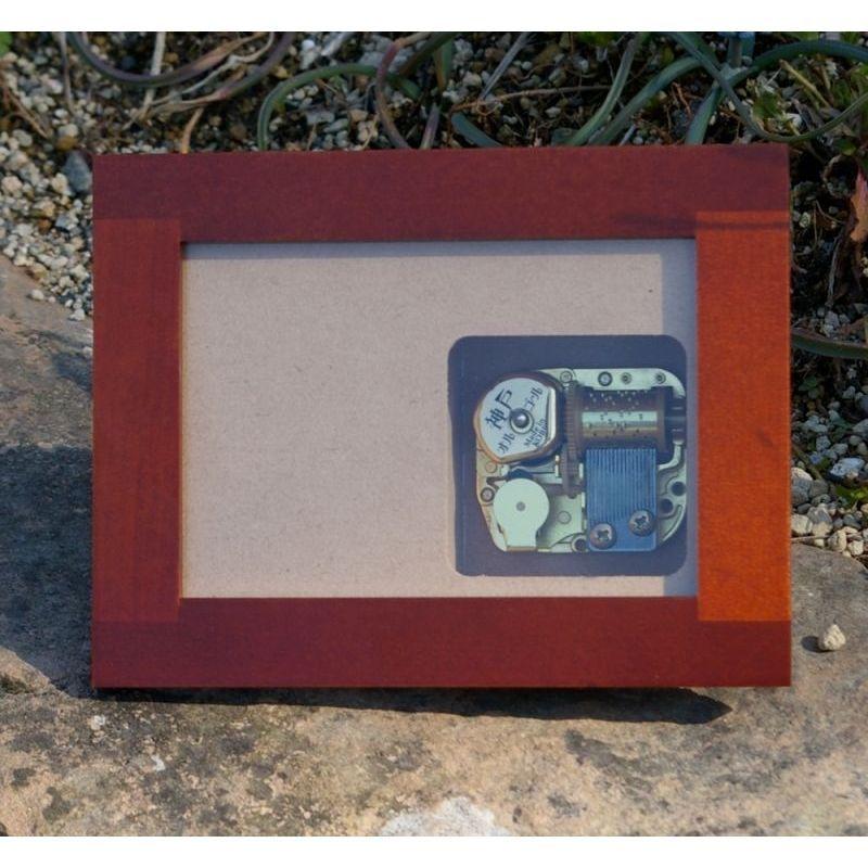 画像1: 18弁タイプオルゴール 木製フォトフレームケース (1)