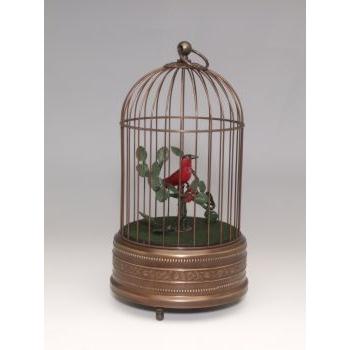 画像1: バードケージ「アンティーク調」鳥1羽 (1)