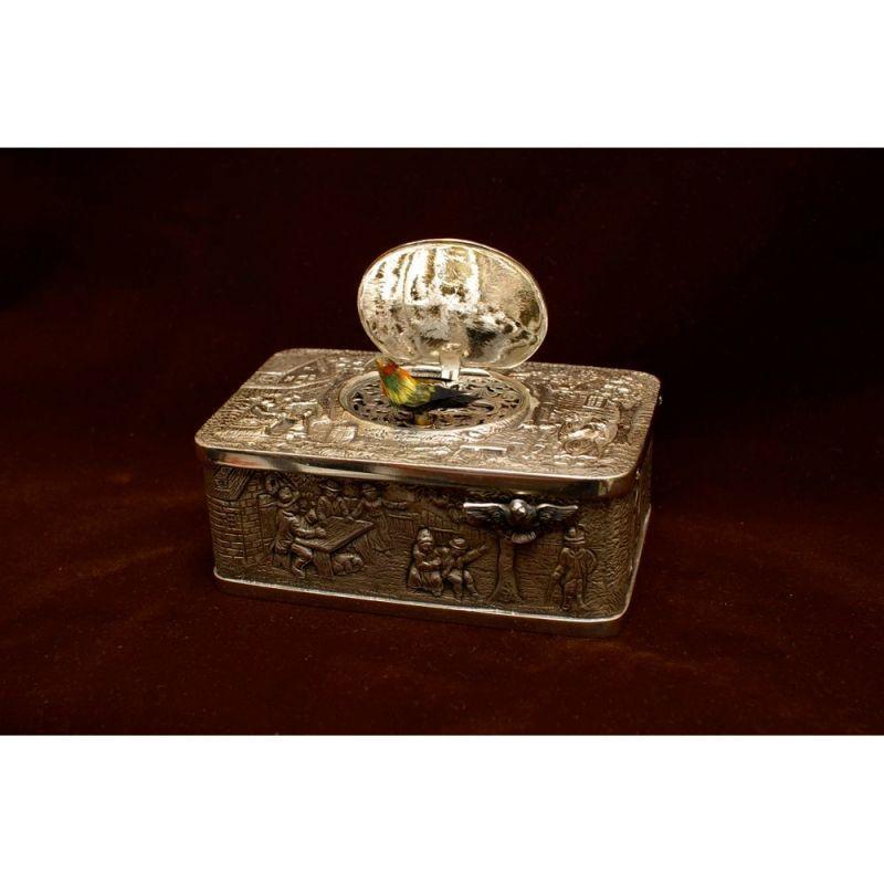 画像1: バードボックス「シルバーレリーフ」 (1)