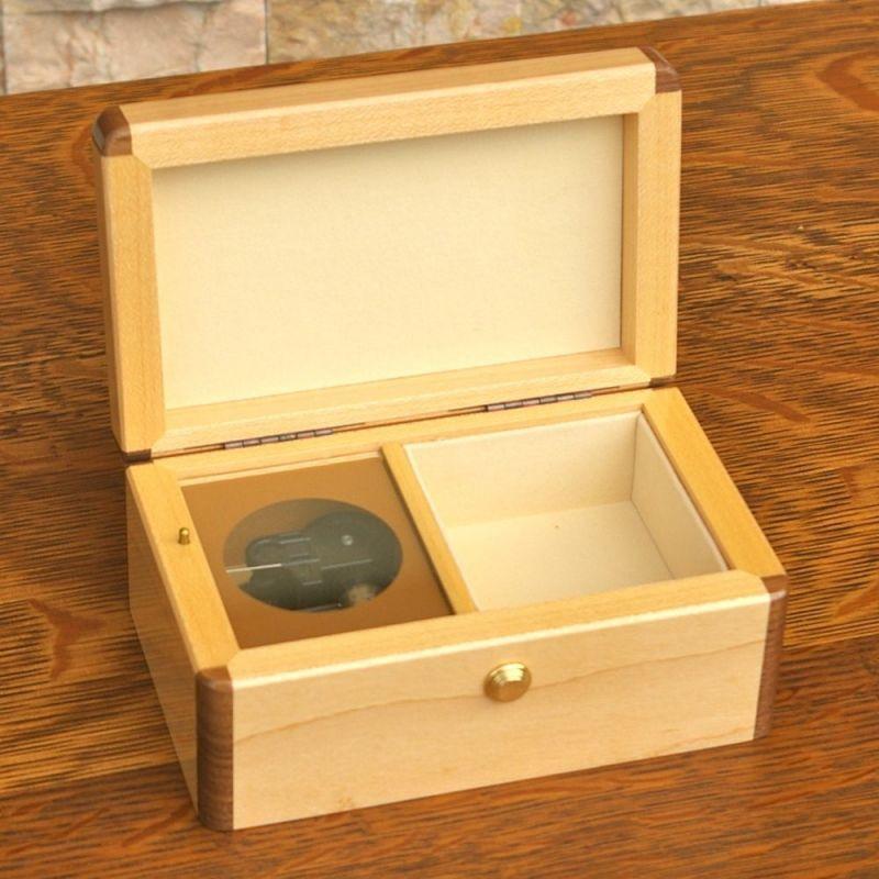 画像1: メープル宝石箱オルゴール (1)
