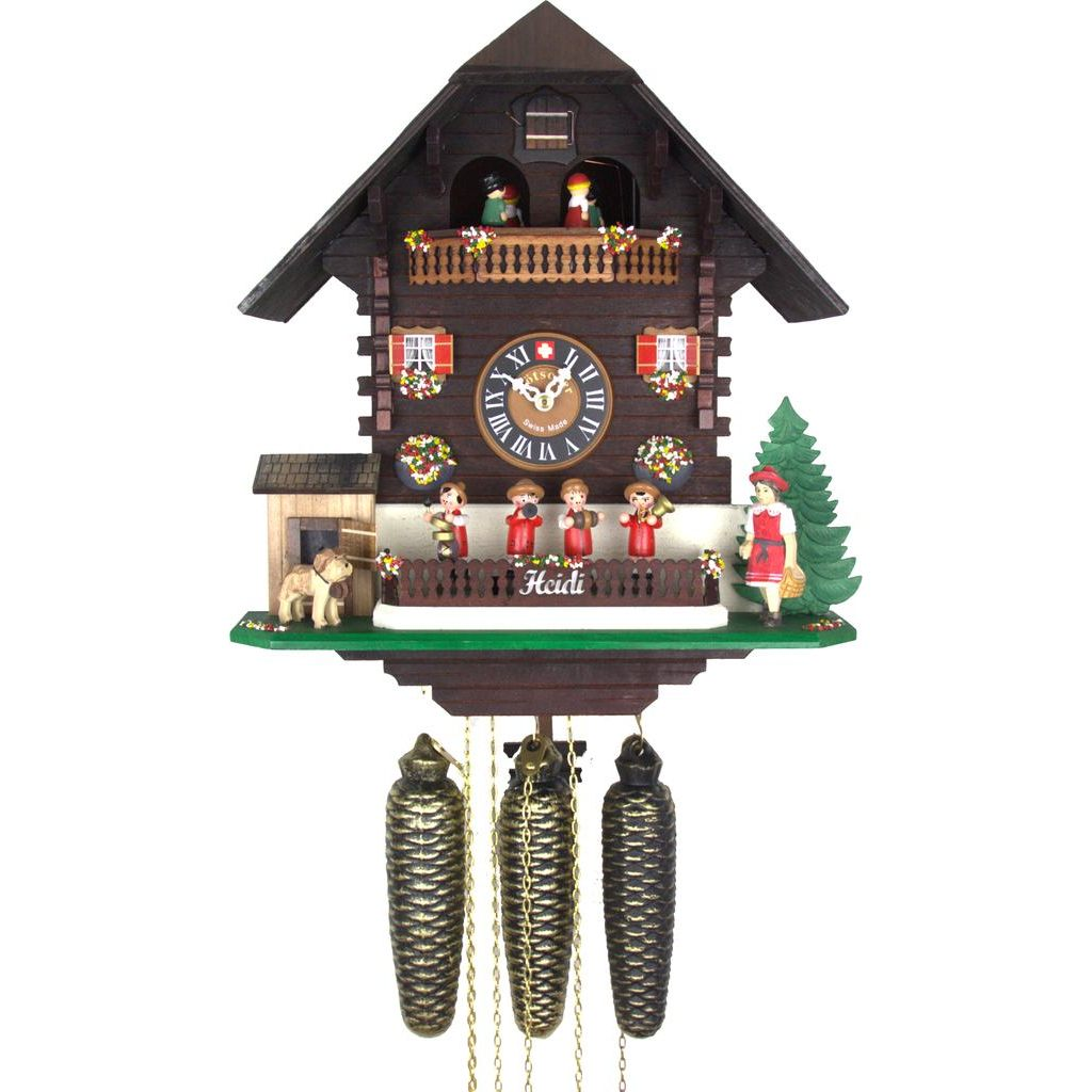 画像1: カッコー時計(鳩時計) ハイジと音楽隊 -8日巻き- (1)