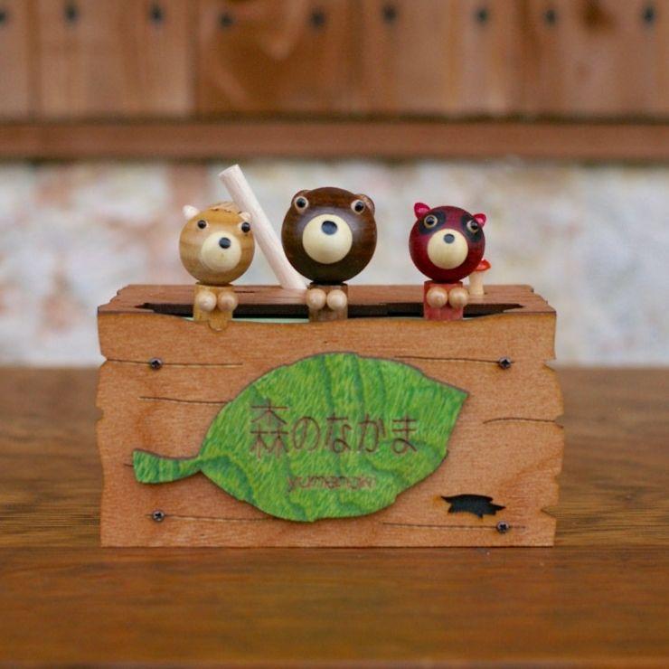 画像1: 木箱アニマルズ 森のなかま オルゴール (1)