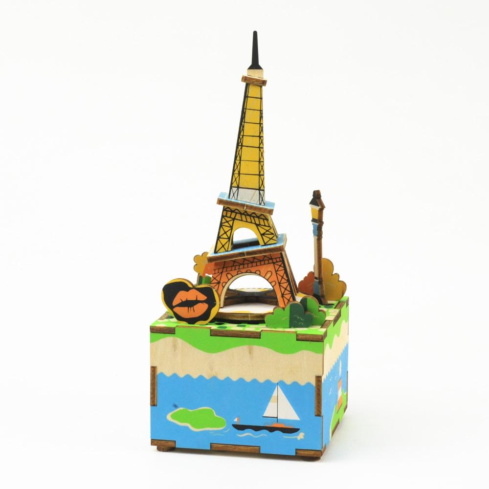 画像1: 【DIY木製パズルキットオルゴール】  エッフェル塔 (1)