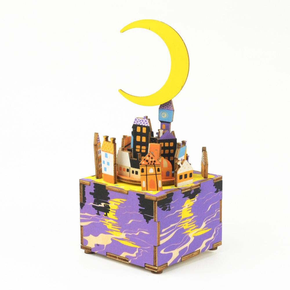 画像1: 【DIY木製パズルキットオルゴール】  ムーンドリーム (1)