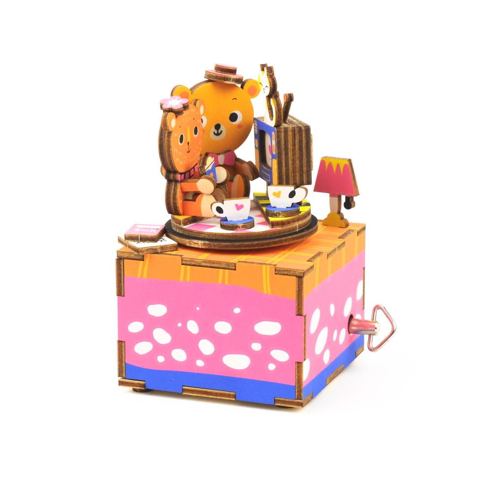画像1: 【DIY木製パズルキットオルゴール】 おうちでティータイム (1)