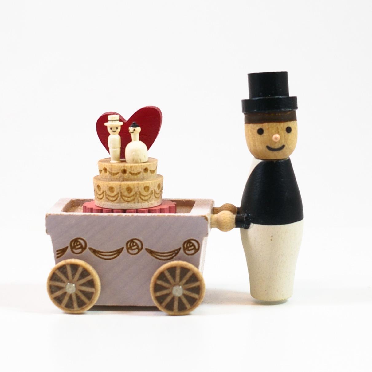 画像1: Lサイズ*可動 ウェディングケーキ 【 wooderful life DIYオルゴールオブジェ 】 (1)