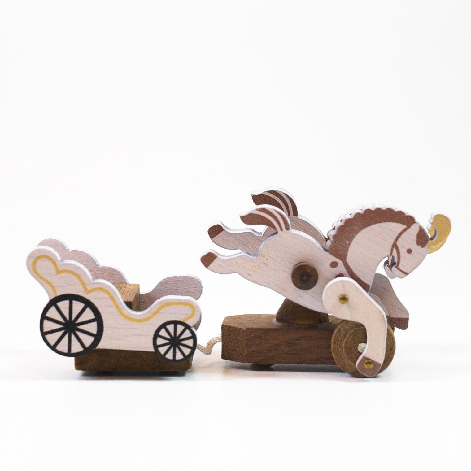 画像1: Lサイズ*可動 馬車 【 wooderful life DIYオルゴールオブジェ 】 (1)