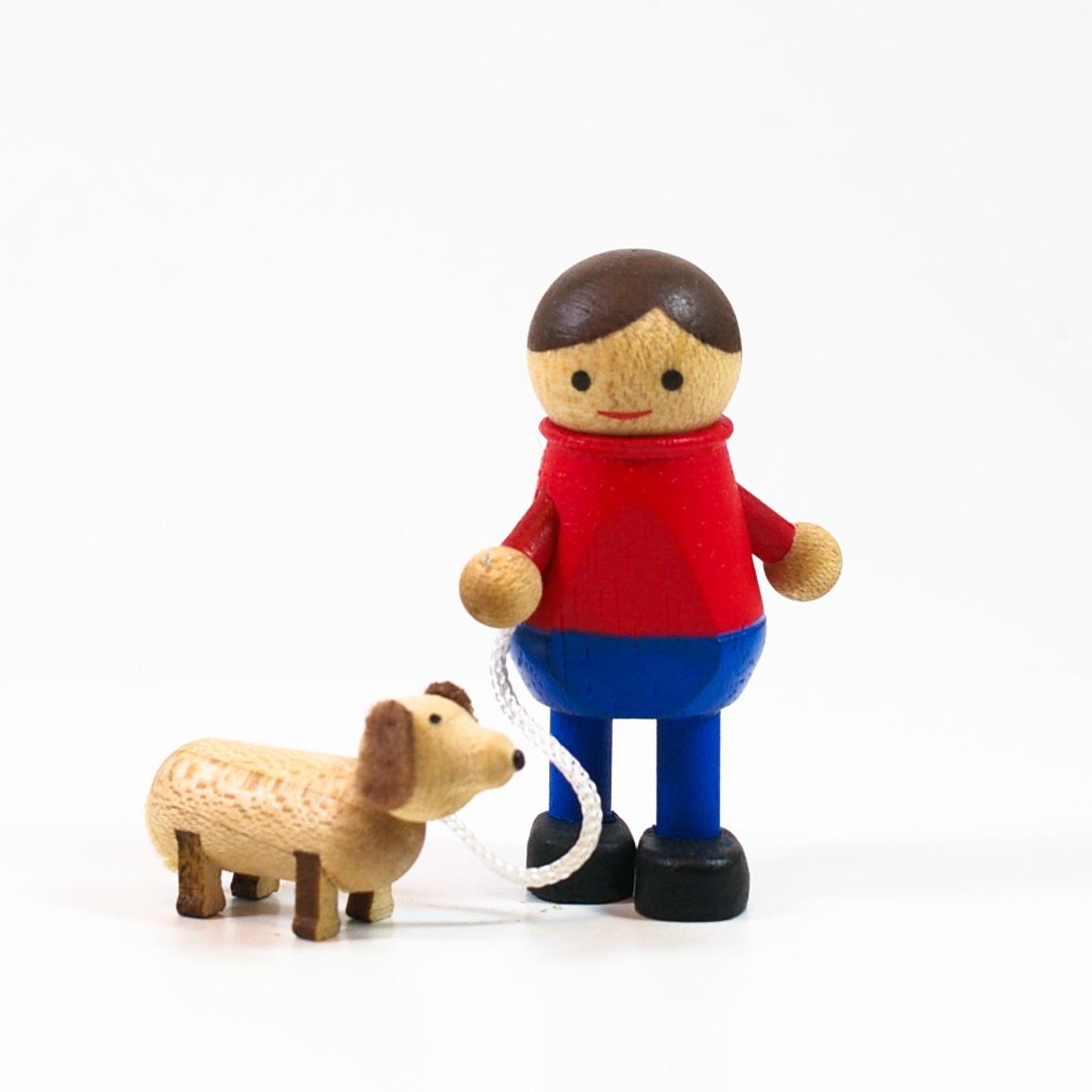 画像1: Mサイズ*犬の散歩 【 wooderful life DIYオルゴールオブジェ 】 (1)
