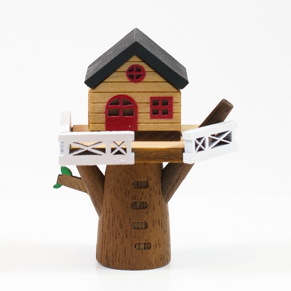 画像1: Mサイズ*ツリーハウス 【 wooderful life DIYオルゴールオブジェ 】 (1)