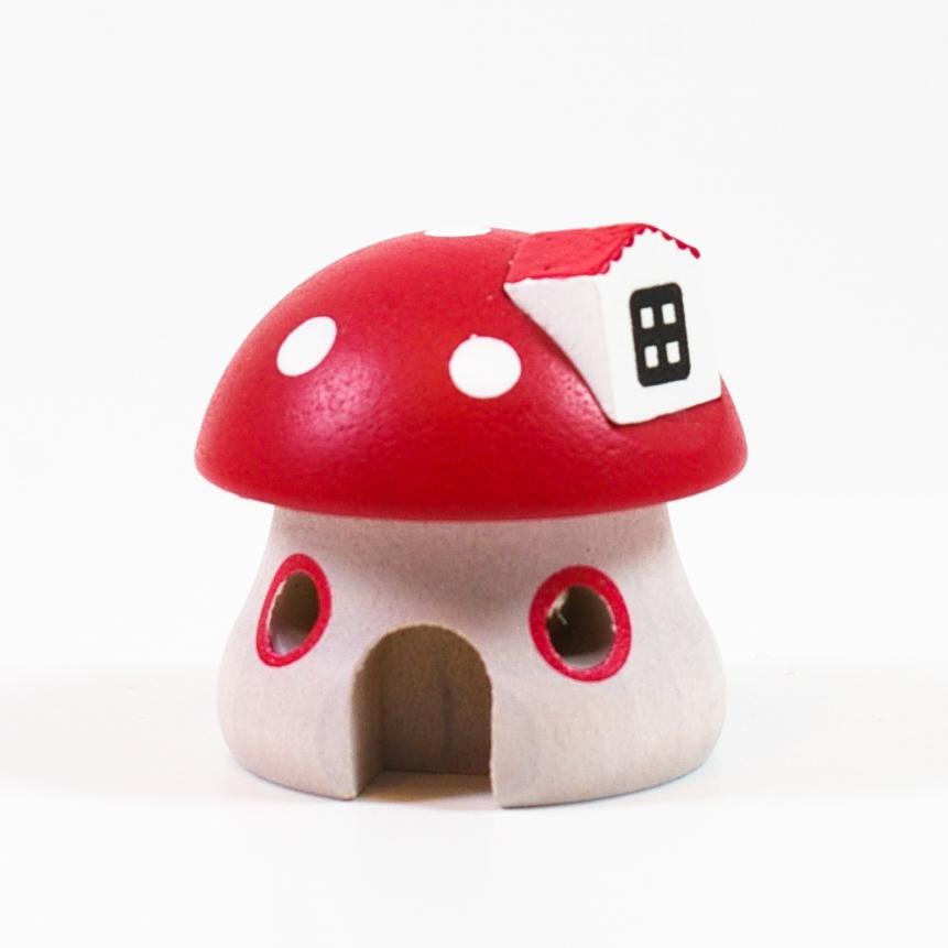 画像1: Mサイズ*きのこのお家 【wooderful life DIYオルゴールオブジェ】 (1)