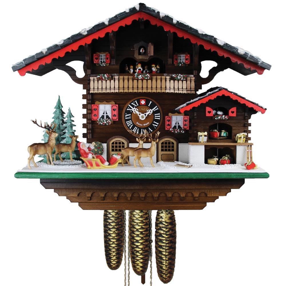 画像1: カッコー時計 サンタクロース (1)