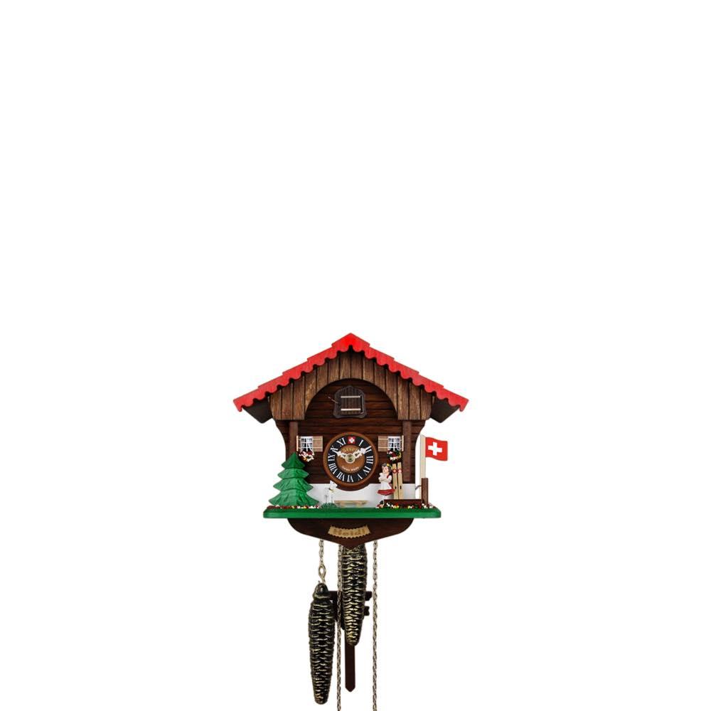 画像1: カッコー時計 ハイジと子やぎ (1)