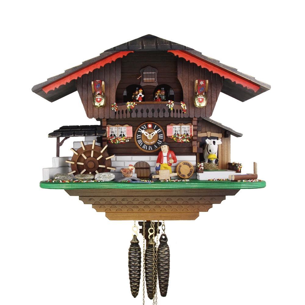 画像1: カッコー時計  農夫の山小屋 (1)
