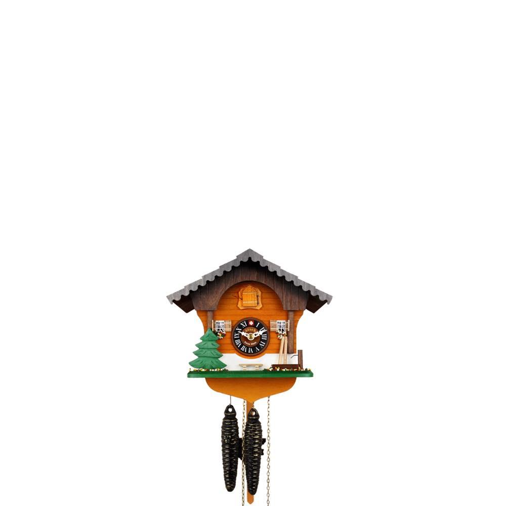 画像1: カッコー時計 干し草棒とパインツリー (1)