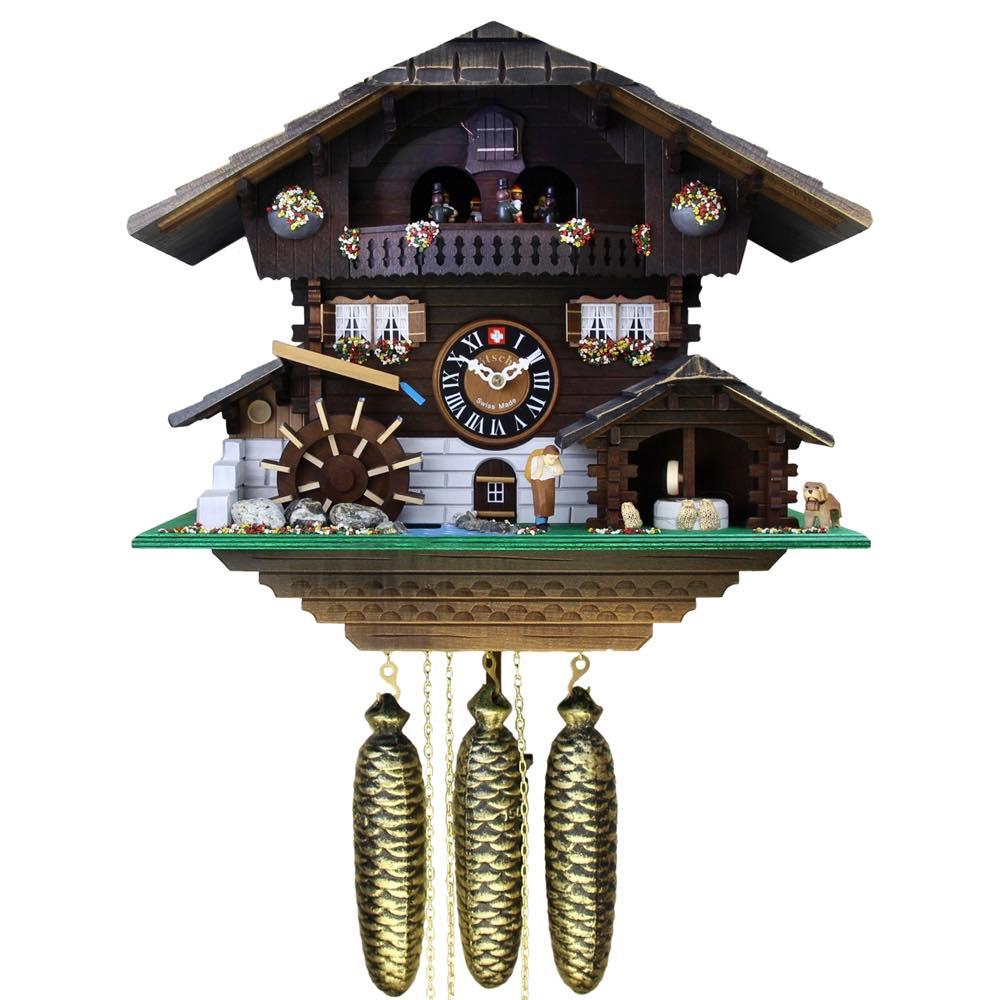 画像1: カッコー時計 (鳩時計) 粉ひき小屋 (1)
