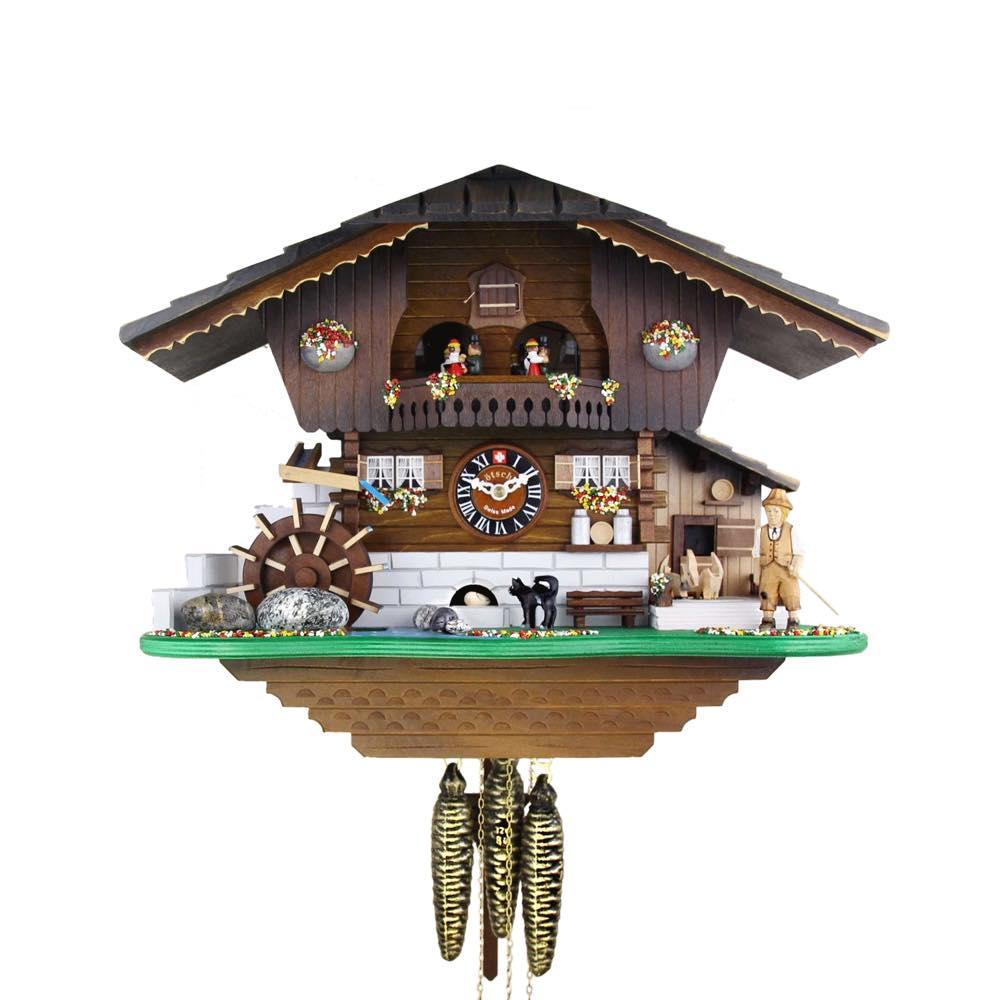 画像1: カッコー時計 ネコとネズミ (1)
