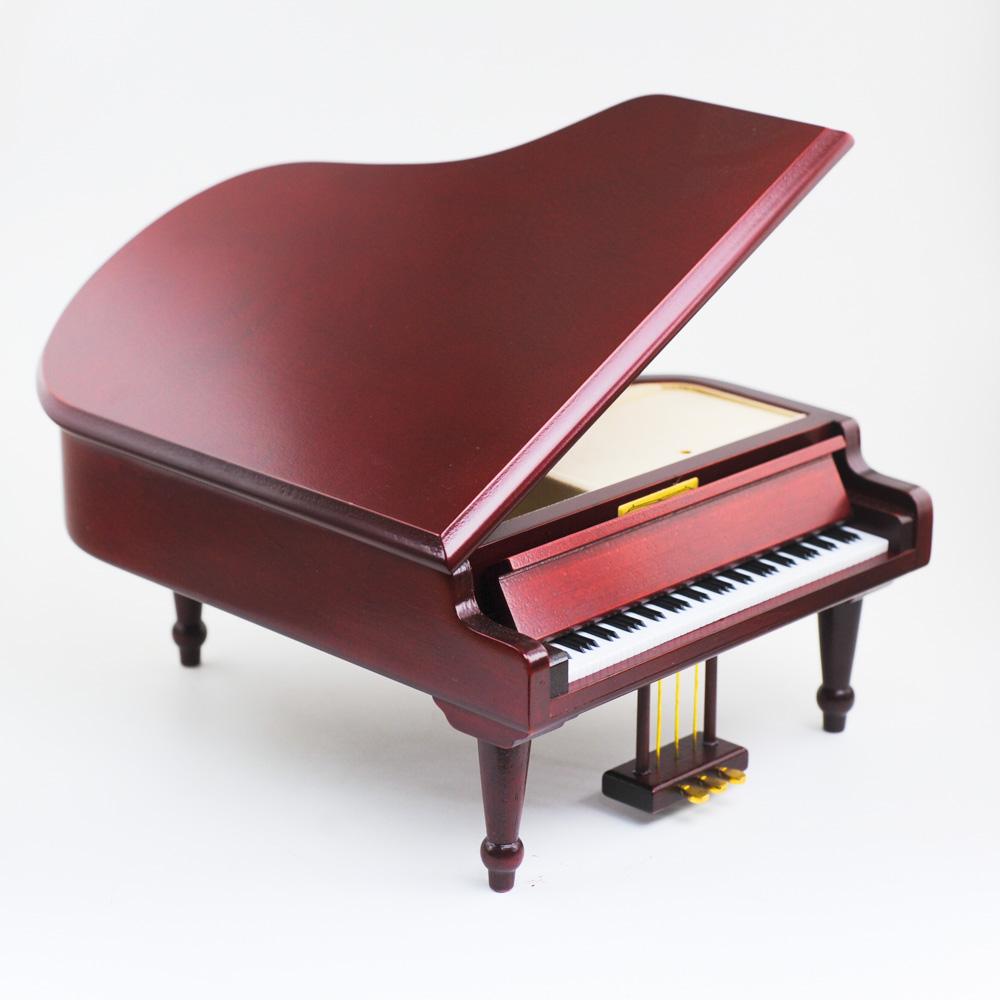 画像1: 木製グランドピアノ 茶L (1)