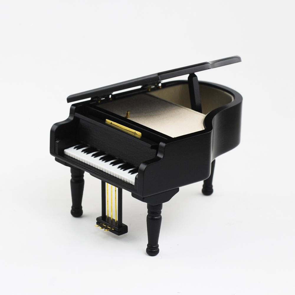 画像1: 木製グランドピアノ 黒S (1)