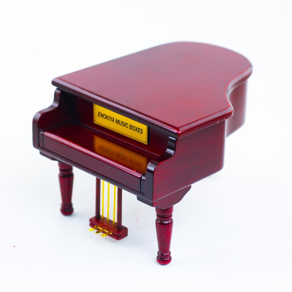 画像1: 木製グランドピアノ 茶S (1)
