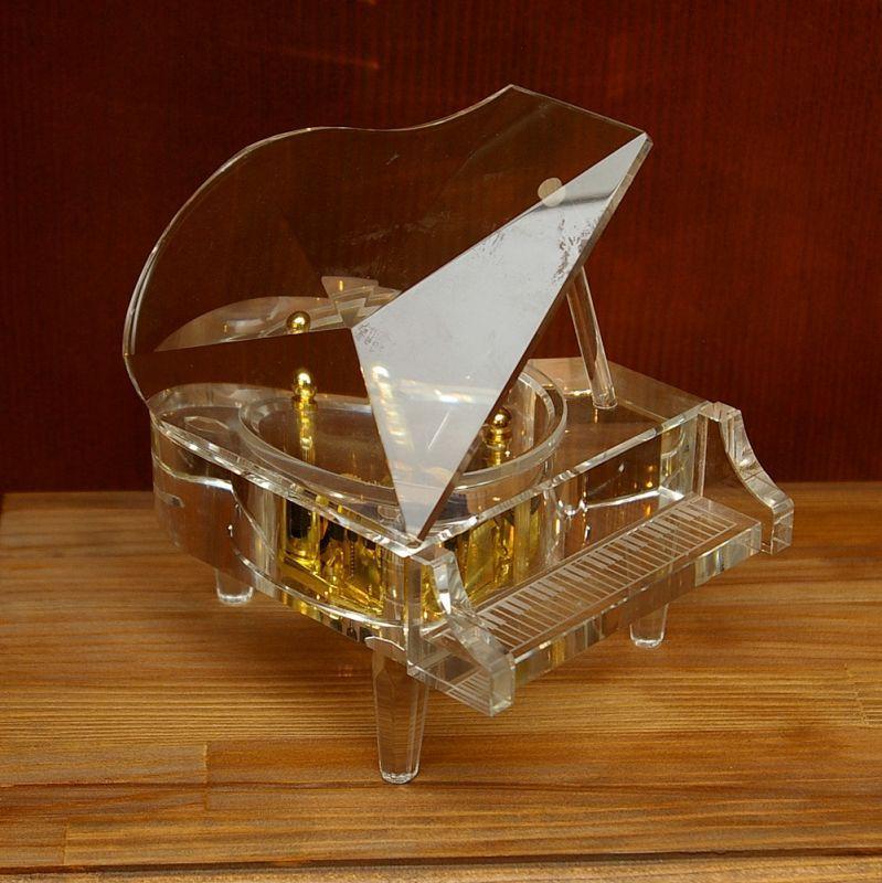 画像1: ガラス・グランドピアノ オルゴール (1)