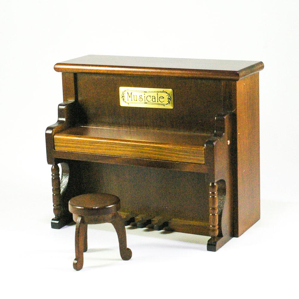 画像1: ミニチュア アップライトピアノ * オルゴール (1)